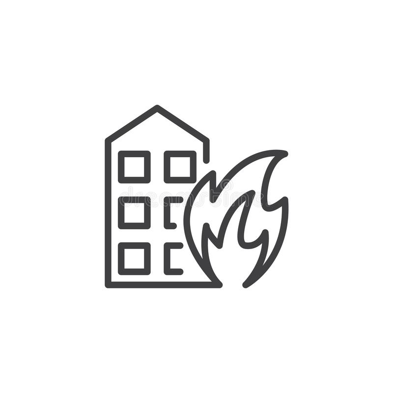 Fires line icon. Outline vector sign, linear style pictogram isolated on white. Symbol, logo illustration. Editable stroke stock illustration