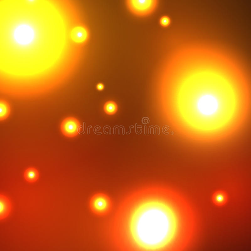 Fires of the night. City through glass vector illustration