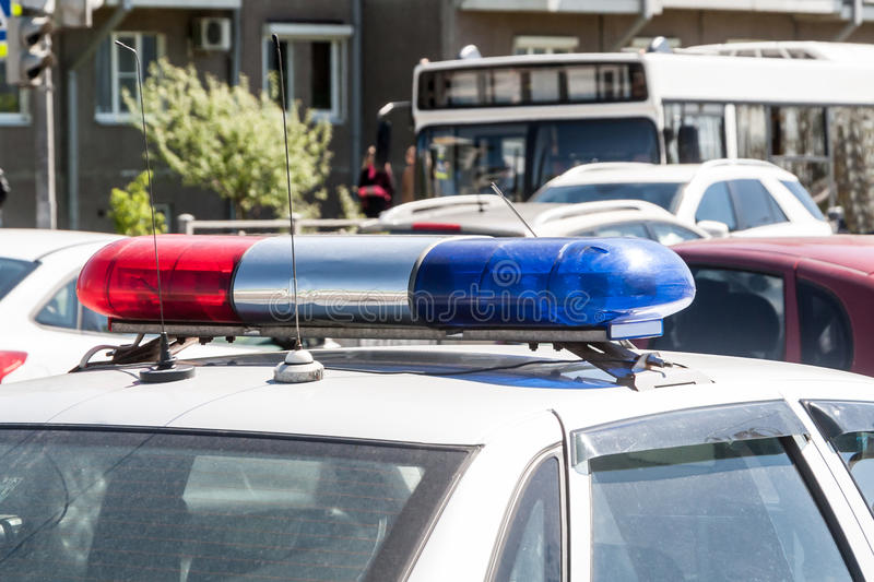 Fires of the police car royalty free stock image