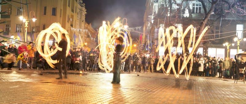 Fireshows voor een verzameling van geheugen royalty-vrije stock foto