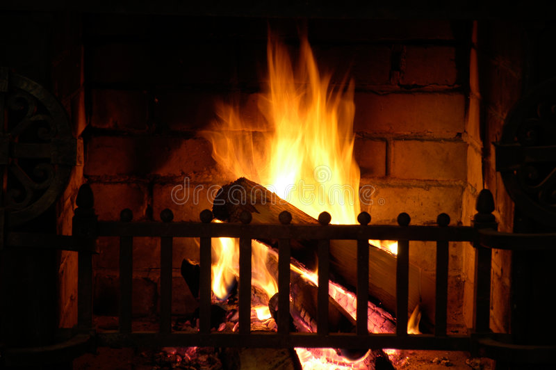 Fireside fotografia de stock royalty free