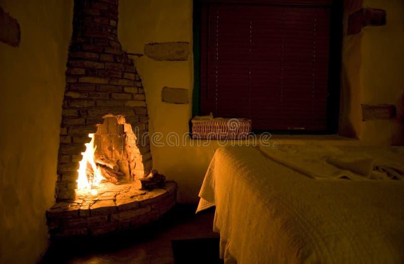 Fireside rústico imagens de stock