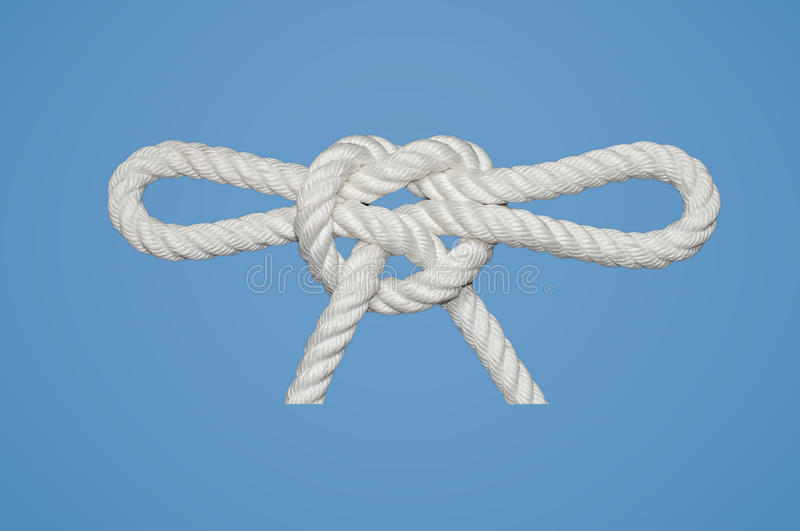 Firesman´s Chair Knot. This Knot is used for rescue purposes royalty free stock photography