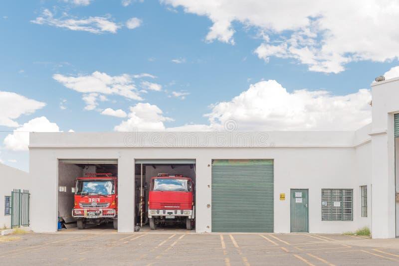 Firestation in Graaff Reinet royalty-vrije stock foto