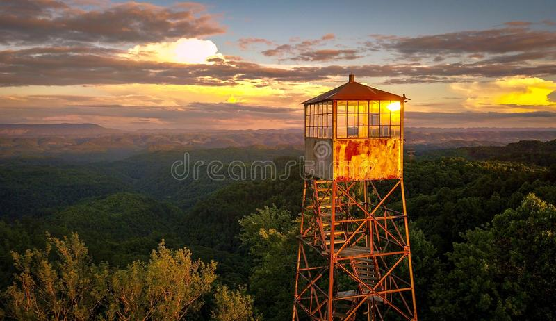 Firetower stock foto