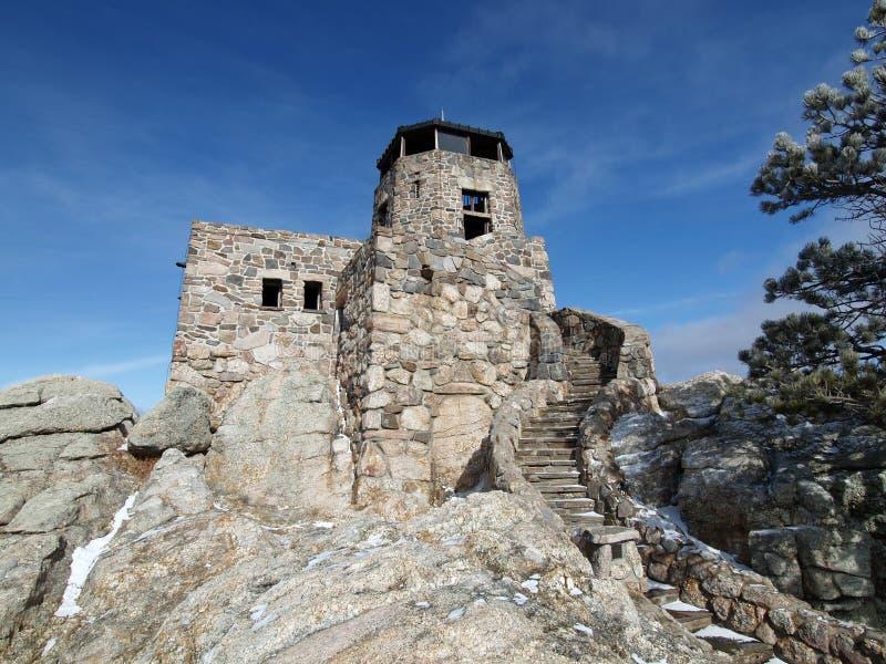 Firetower de piedra imágenes de archivo libres de regalías