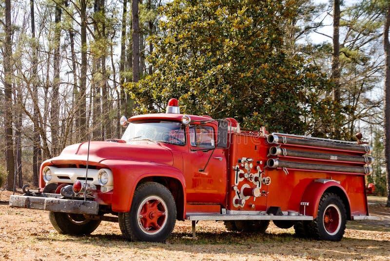 Firetruck antique photo stock