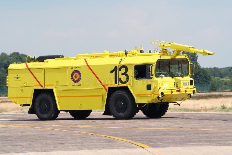 Firetruck d'aéroport photo stock