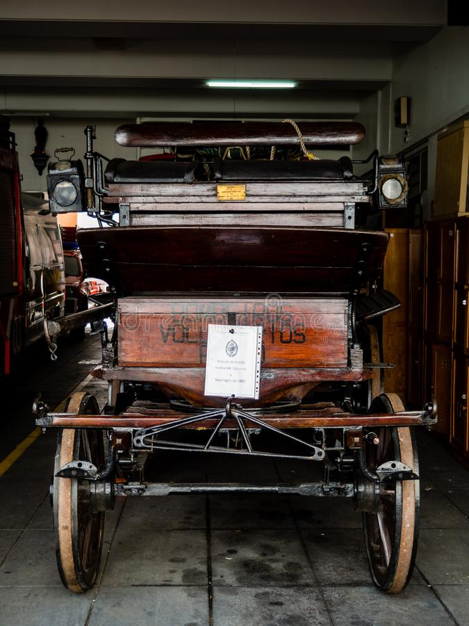 Firetruck de musée photographie stock libre de droits