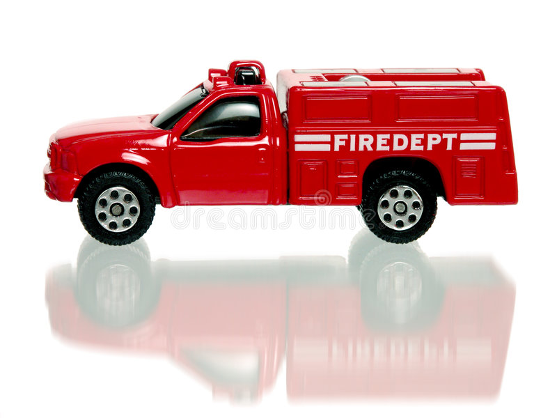 Firetruck de rouge de jouet photos stock