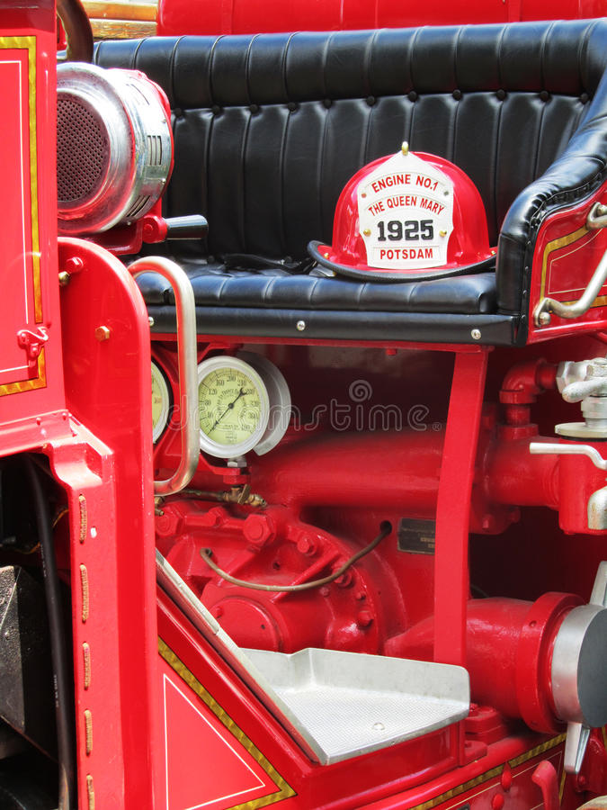 Firetruck do vintage imagens de stock royalty free