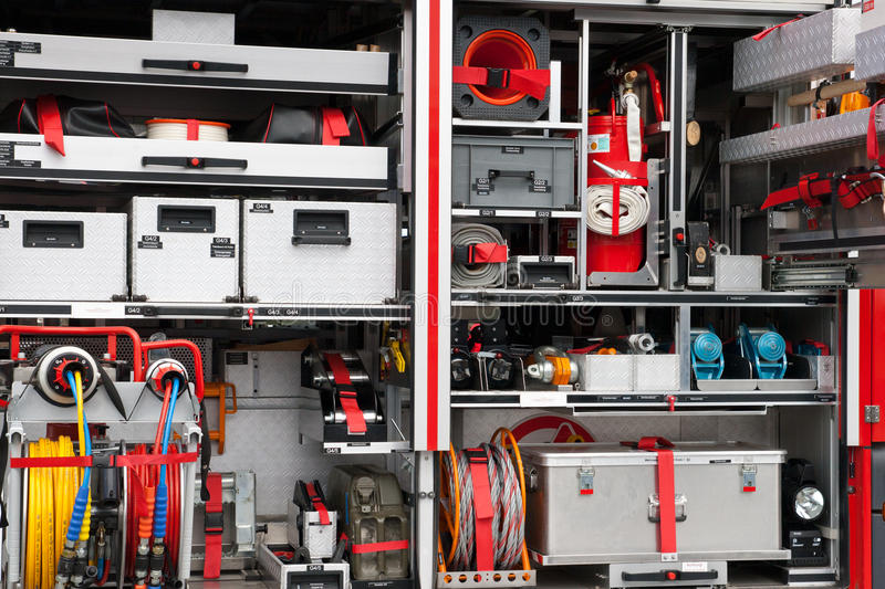 Download Firetruck equipment stock photo. Image of alarm, protect - 20502580