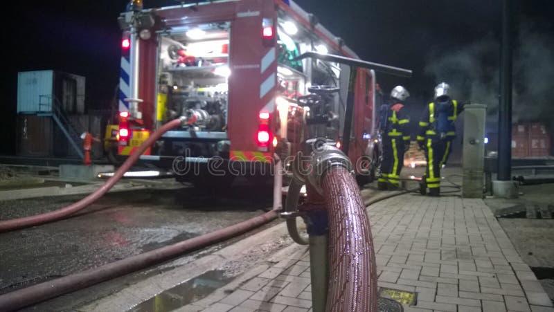 Firetruck holandie obrazy stock