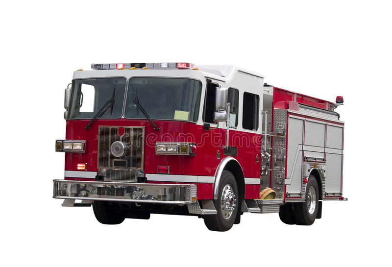 Firetruck Isolated royalty free stock photo