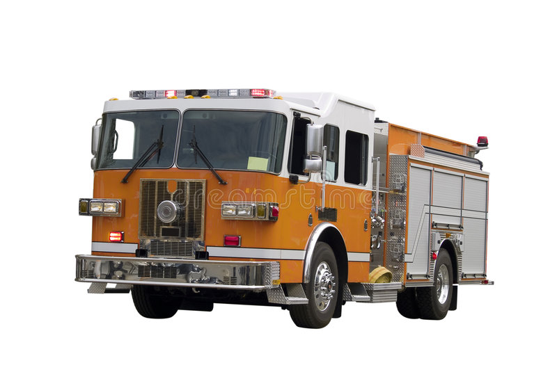 Firetruck Isolated Stock Photos
