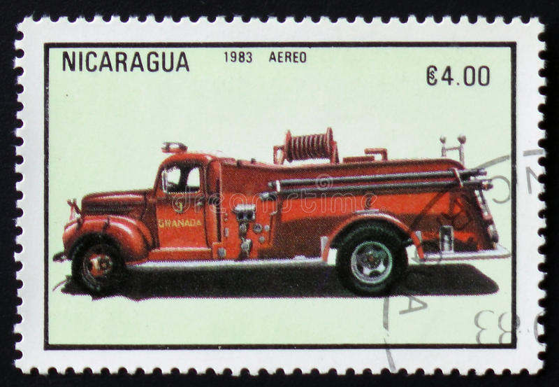 Firetruck, series, circa 1983 royalty free stock photos