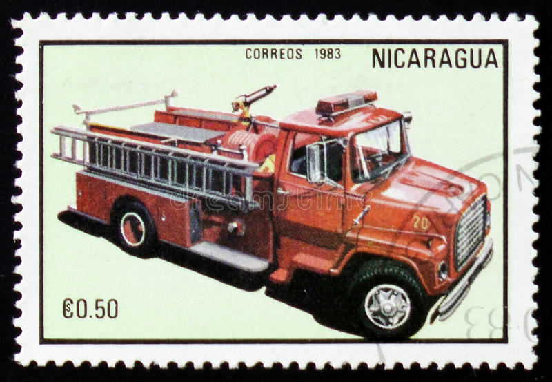 Firetruck, series, circa 1983 royalty free stock photography
