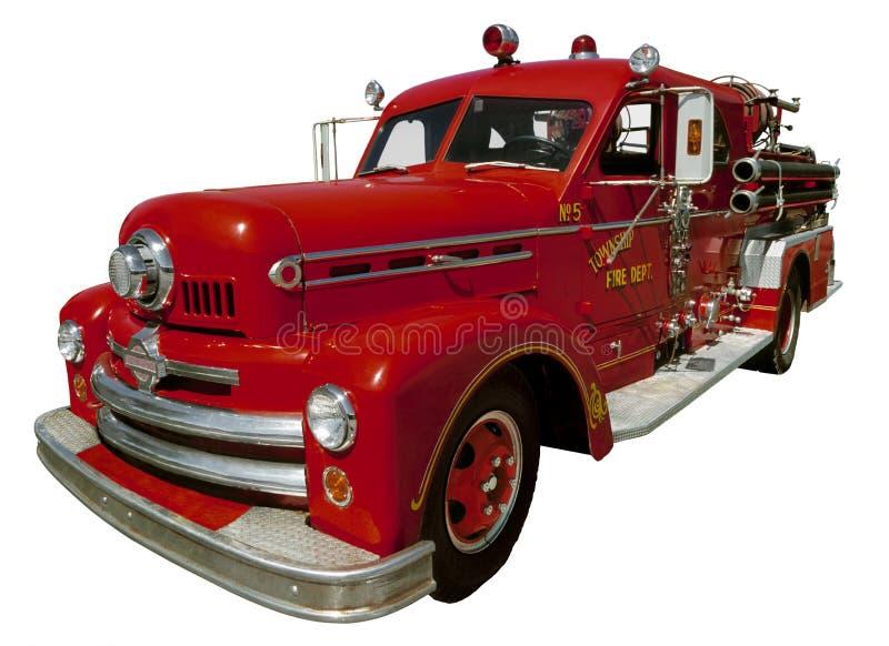 Firetruck viejo imagenes de archivo