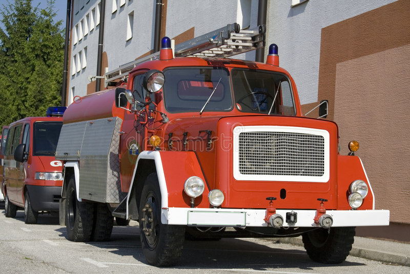 Firetruck viejo foto de archivo