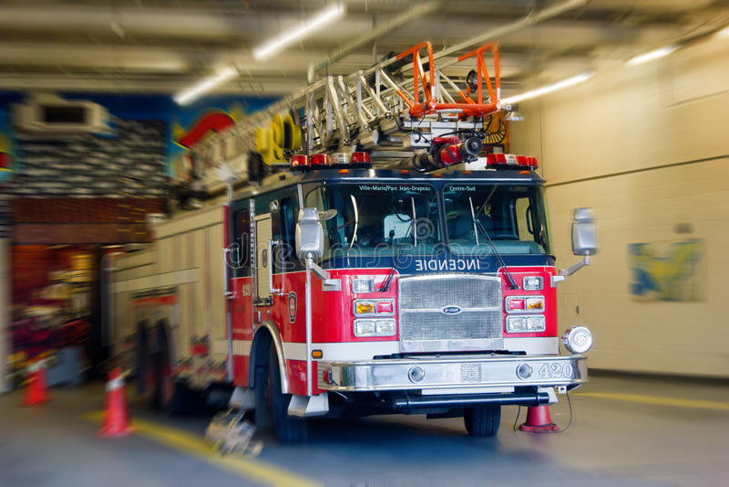 Firetruck von Montreal. stockbild