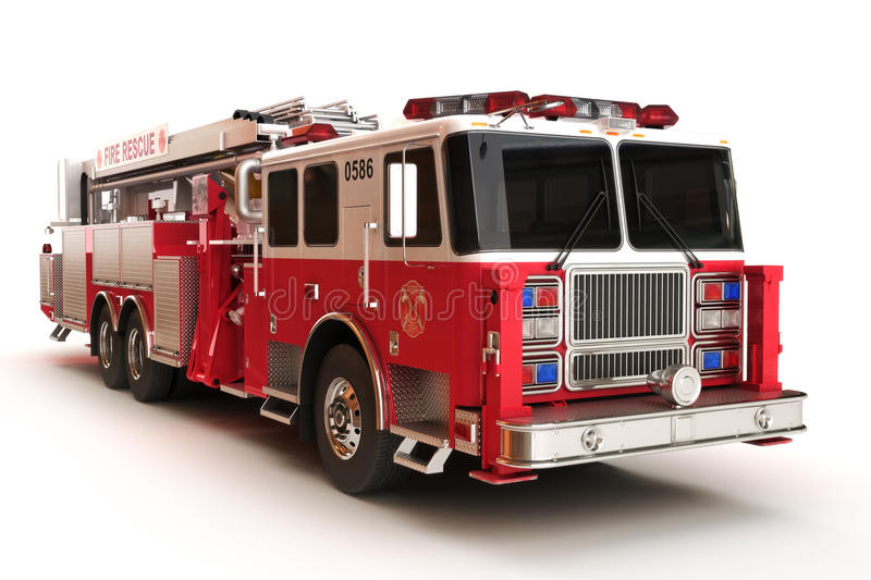 Download Firetruck On A White Background Stock Illustration - Image: 28620637