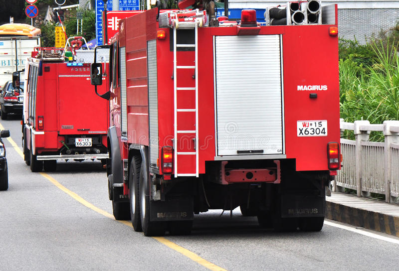 Firetrucks stock image