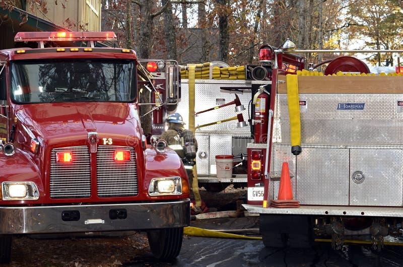 Firetrucks at a House Fire