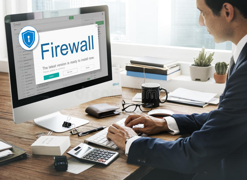 Firewall Antivirus Alert Protection Security Caution Concept. Firewall Antivirus Protection Security Concept stock images