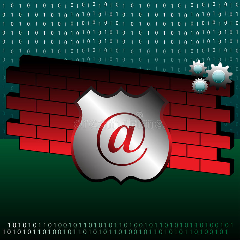 Firewall concept vector illustration