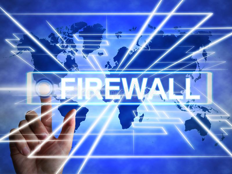Firewall concept icon means protecting your computer or system from viruses - 3d illustration stock photography