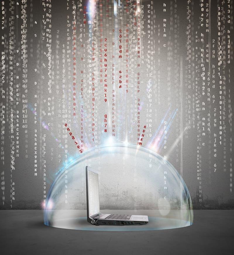 Firewall en antivirus concept stock foto