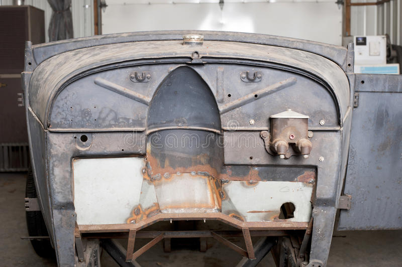 Firewall of Ford roadster. Unfinished firewall from a Ford roadster stock photos