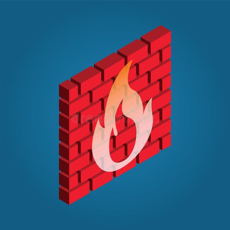 Firewall icon royalty free illustration