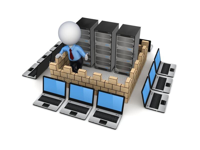 Firewallbegrepp. royaltyfri illustrationer