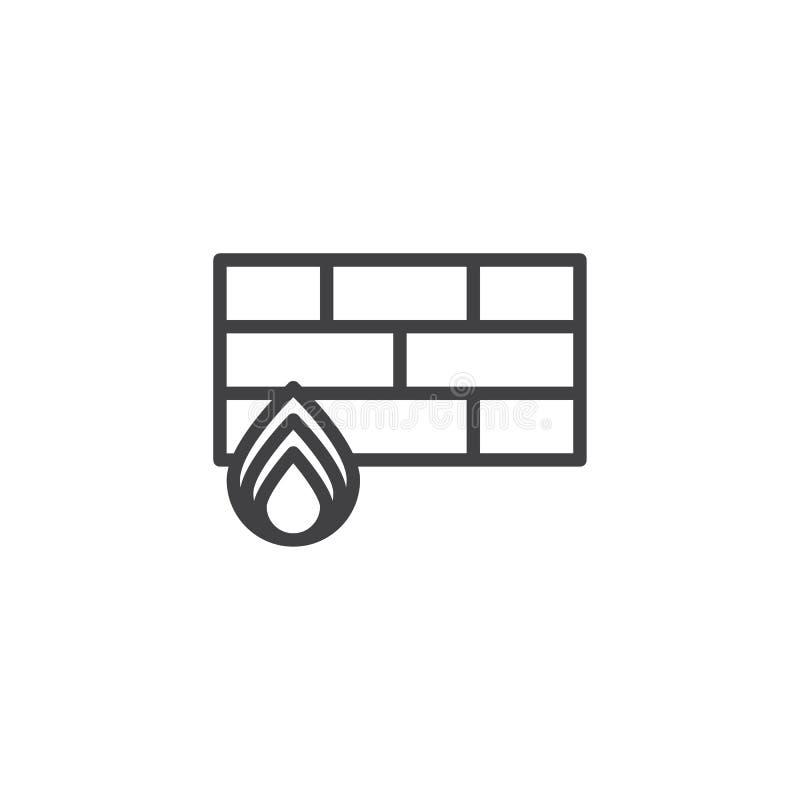 Firewalllinje symbol stock illustrationer
