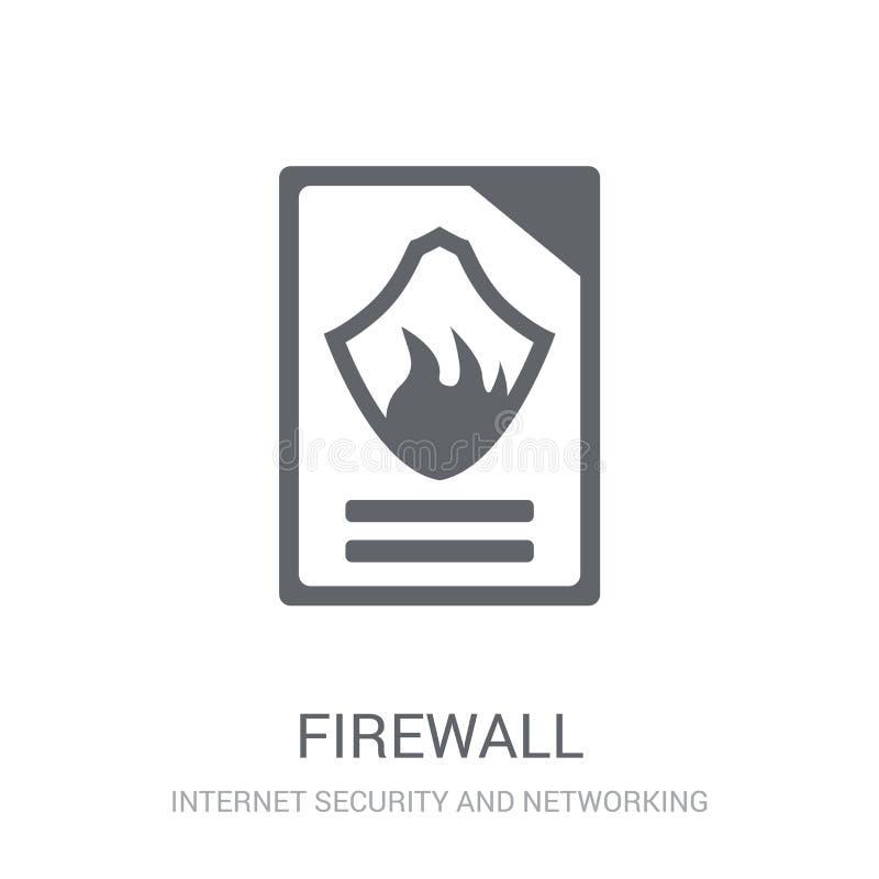 Firewallpictogram  royalty-vrije illustratie