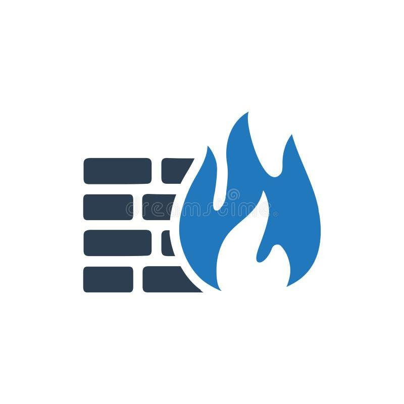 Firewallsymbol royaltyfri illustrationer