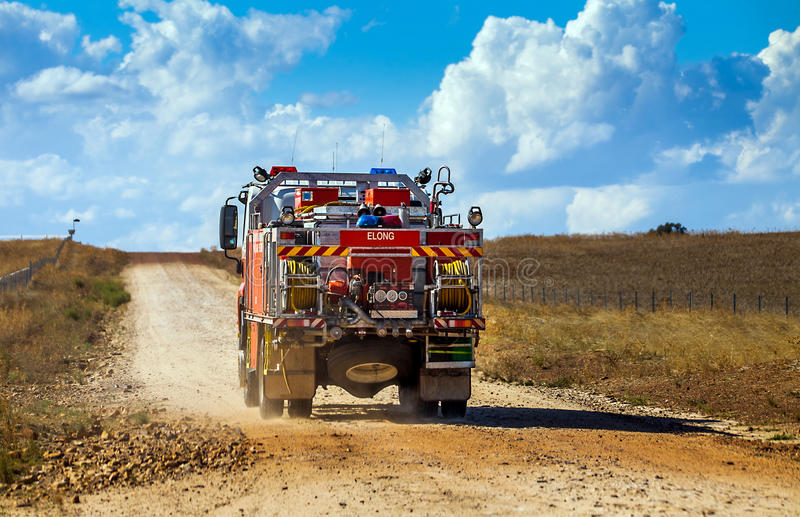 Firewehrauto在内地在Dubbo澳大利亚 库存图片