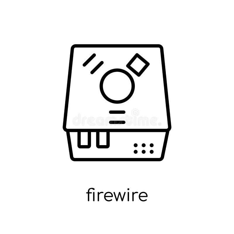 FireWire ikona Modna nowożytna płaska liniowa wektorowa firewire ikona dalej royalty ilustracja