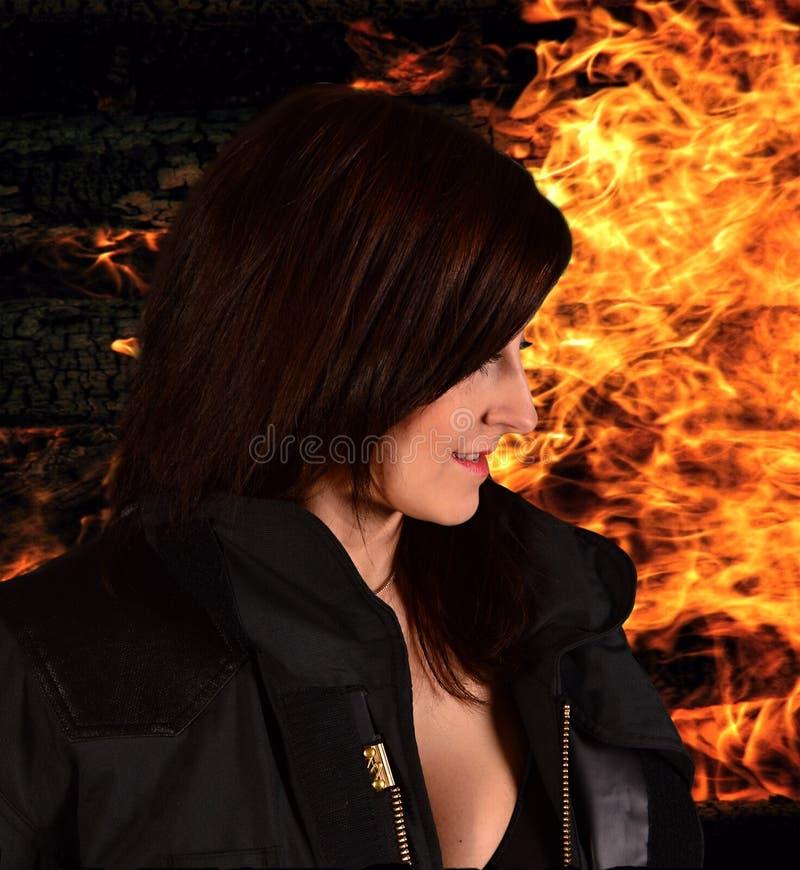 firewoman προκλητικός στοκ εικόνες με δικαίωμα ελεύθερης χρήσης