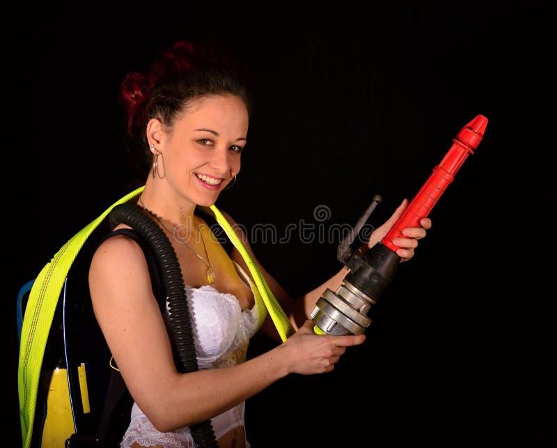 firewoman προκλητικός στοκ εικόνα με δικαίωμα ελεύθερης χρήσης