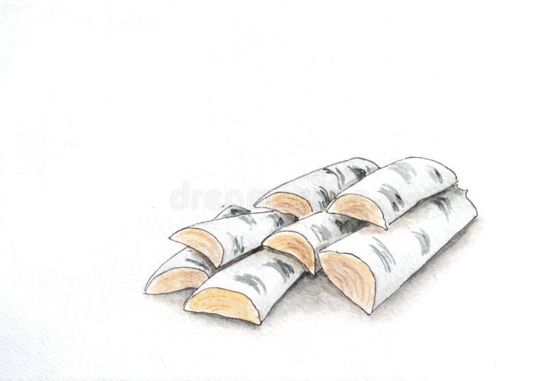 firewood illustrazione vettoriale