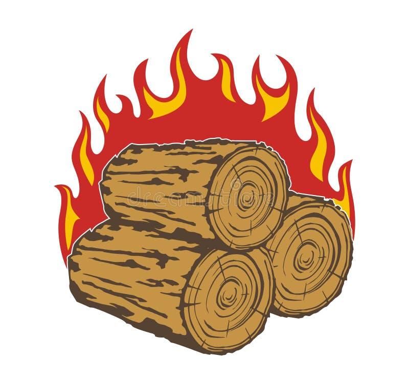 firewood illustration stock