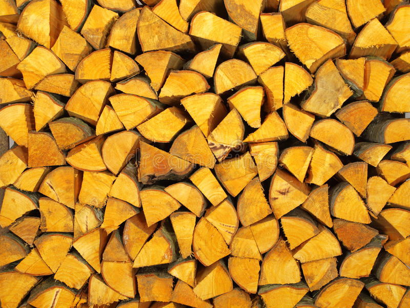 Firewood from alder wood. Beautiful firewood from alder wood royalty free stock images