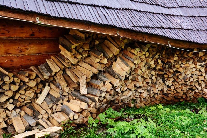 firewood Armazene a lenha fotografia de stock royalty free