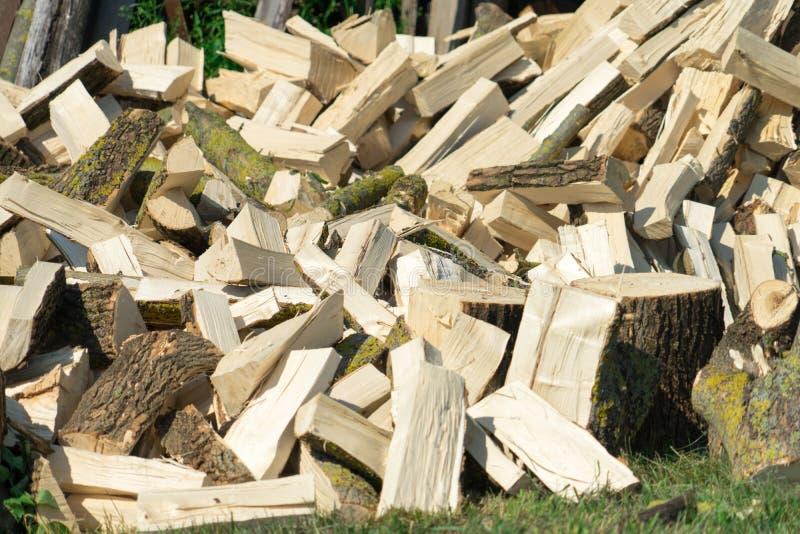 firewood Bois pour la chauffage et le sauna Endroit pour votre texte images stock