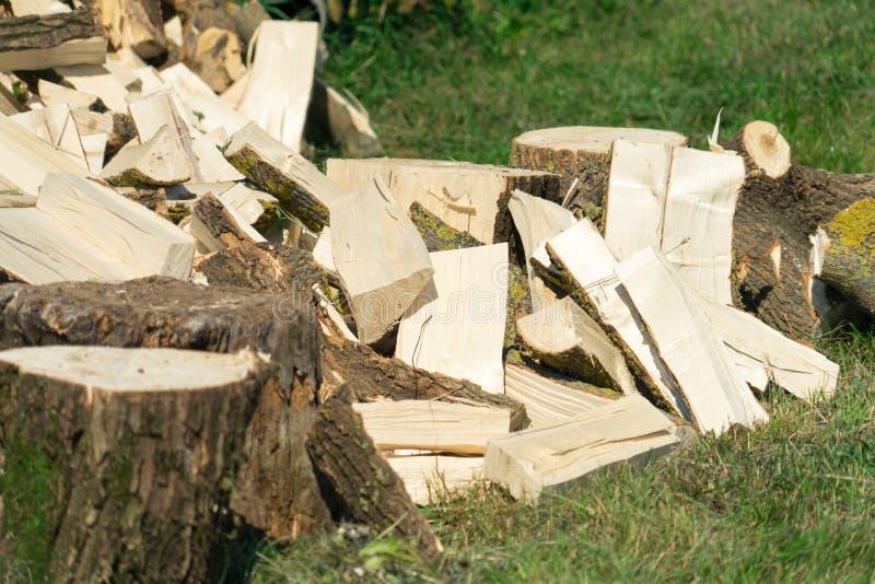 firewood Bois pour la chauffage et le sauna Endroit pour votre texte photos libres de droits