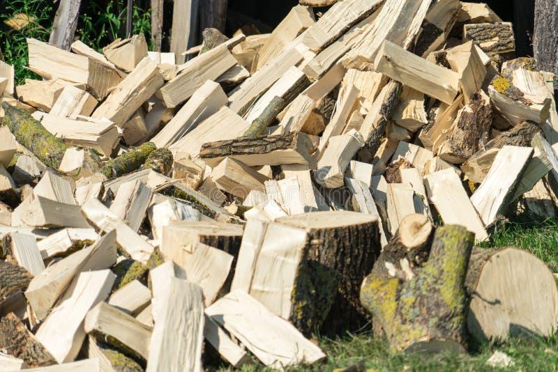 firewood Bois pour la chauffage et le sauna Endroit pour votre texte photo libre de droits