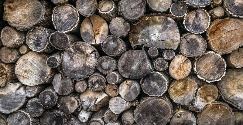 Firewood log pile stock photography