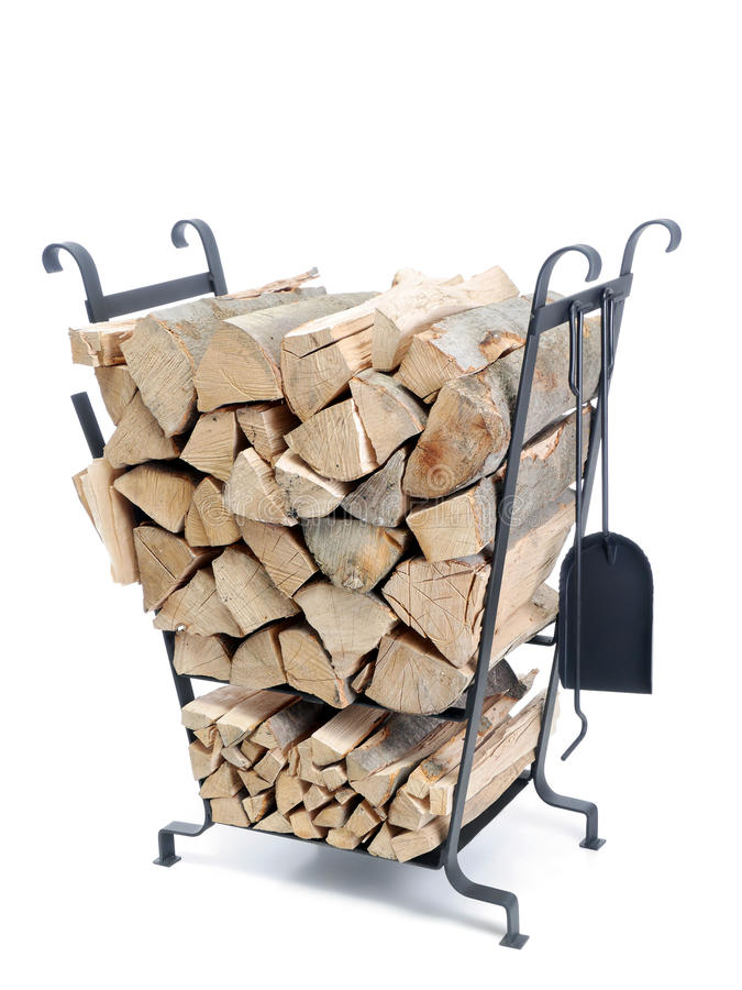 Download Firewood metal stand stock image. Image of house, metal - 29188873